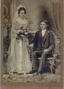John C & Bertha nee Rose Buckhold wedding Enlarged