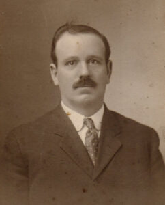 Old photo of mustached man