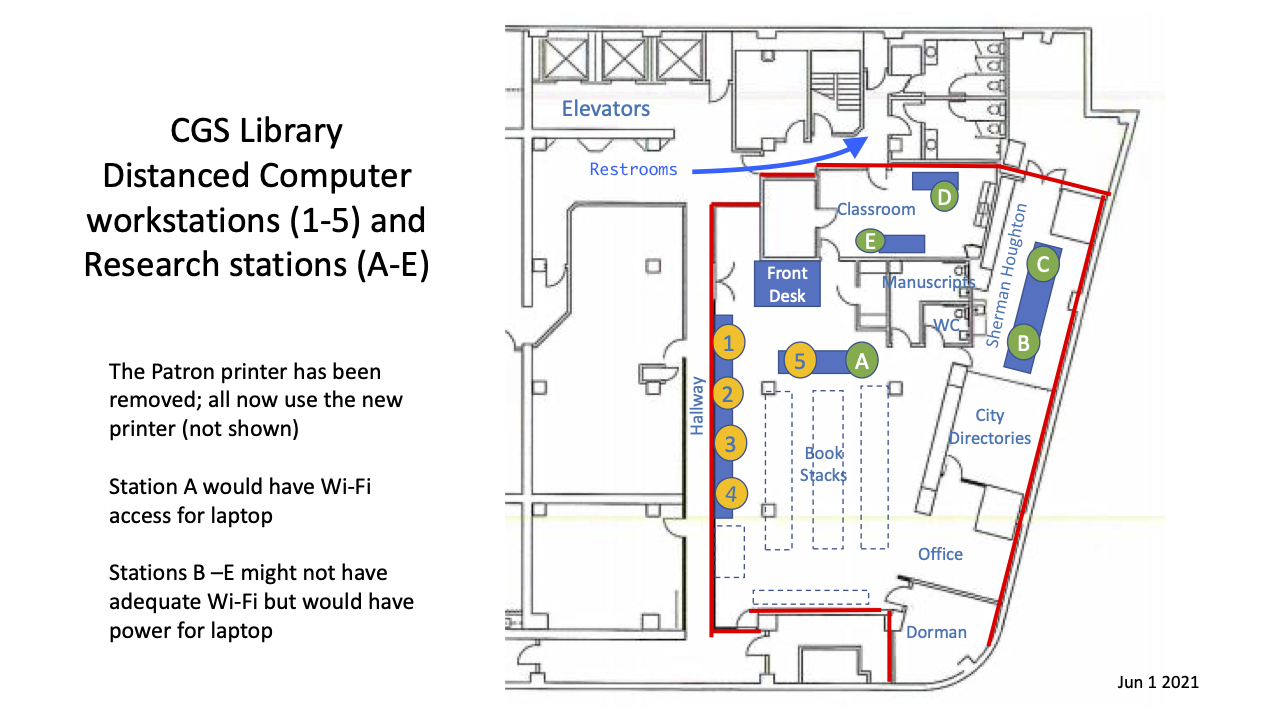 CGS Library Workstation Locations