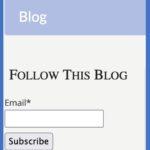 Illustration of blog signup